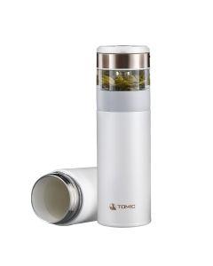 特美刻 茶水分离保温杯 抗菌银茶隔 陶瓷内胆  茶仓80ml杯体370ml
