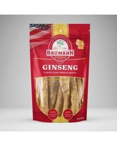 Baumann American Ginseng, Root-Long,Cut corners