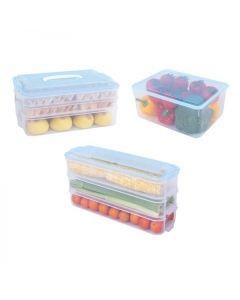 【包邮】HAIXIN海兴多功能收纳盒 冰箱保鲜  带盖密封  三件套