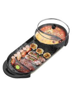 Liven利仁 涮烤一体鸳鸯锅电烤炉 SK-J6860 家用无烟 加大烤盘