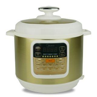 MIDEA美的快煲7合1 电压力锅MY-CS6002W 6L 14项烹饪菜单,10重安全防护