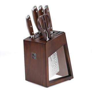 张小泉 锋悦Plus系列刀具六件套 锋利耐磨 不易生锈 自带磨刀器