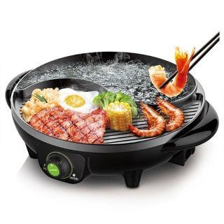 Liven利仁 太极涮烤锅多用途涮烤一体 电火锅电烤炉SK-J3200 快速加热 无烟不粘