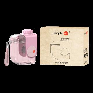 SimpleHH 梦幻马卡龙情侣款便携式320ML口袋水杯YH-297 轻巧便携 防漏防摔
