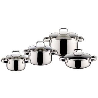ELO塑形8件套不锈钢套装锅 汤锅 奶锅 平底锅 (90014)