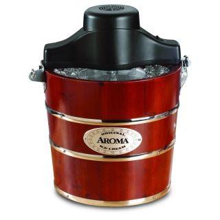 Aroma传统手动冰淇淋机AIC-244 4升容量 高效制冷