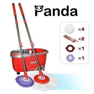 Panda双驱动旋转拖把PANSM65R(2套原装拖把杆+4个超纤维拖把头)