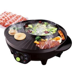利仁Liven多用途涮烤一体锅SK-J3201A  2-4人家用电火锅烧烤机 快速加热 不粘电烤盘