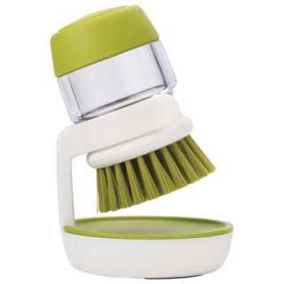 厨房多功能皂液刷清洁刷soap-brush 按压自动加液洗碗洗锅刷 带支架