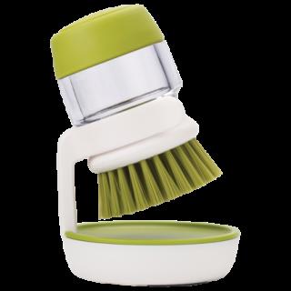Kitchen Palm Scrub Dish Brush Soap Dispensing Set with Holder soap-brush
