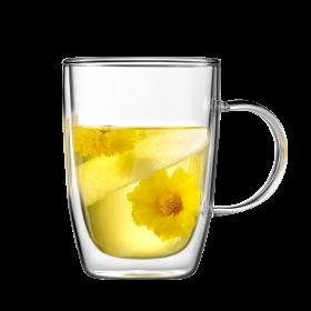 Buydeem/北鼎 双层玻璃杯 隔热防烫水杯 泡茶泡咖啡泡牛奶 300ML