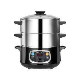 Secura多功能电蒸锅 DZG-A80A1 双层蒸锅 大容量  8.5夸脱