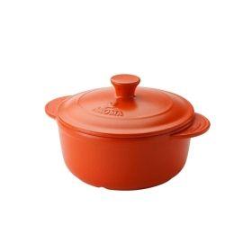 Aroma圆形双耳带盖烤肉锅养生小炖锅ADC-104 安全耐用 四色可选  3.78L