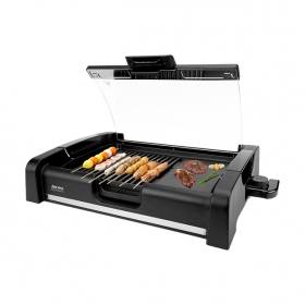 AROMA non-smoking indoor BBQ grill machine combo grill pan 2 in 1 AHG-2620