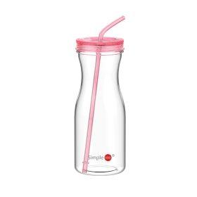 Simple HH 吸管杯YH167 创意带盖水杯 塑料随身杯 8色可选 980ML