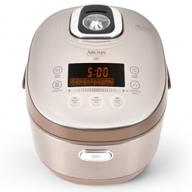 Aroma Rice Cooker AIRC-8010 5L/10-cup uncooked Digital Turbo Convection induction Heating Rice Cooker and Multicooker