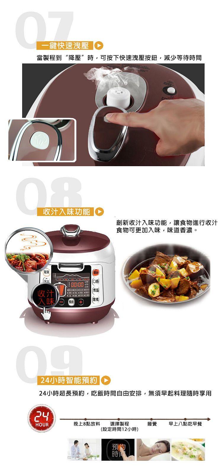 九阳电压力锅JYY-50FS98特色功能宣传图